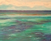 Green Island -- original oil painting 24x18, framed