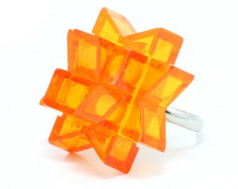 Orange star ring made with LEGO® bricks