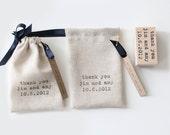 Custom Handmade Drawstring Pouches - Shop Bags, Wedding Favors - Set of 24