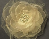 Sand Colored Bridal Fascinator, 2014 womens accessories, wedding hair clip, flower comb or pin