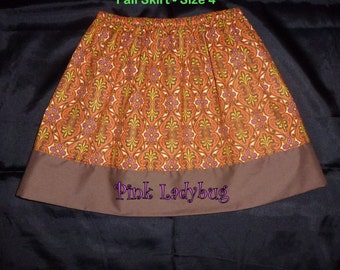 Girls Full Skirt - Ready to Ship in Size 4