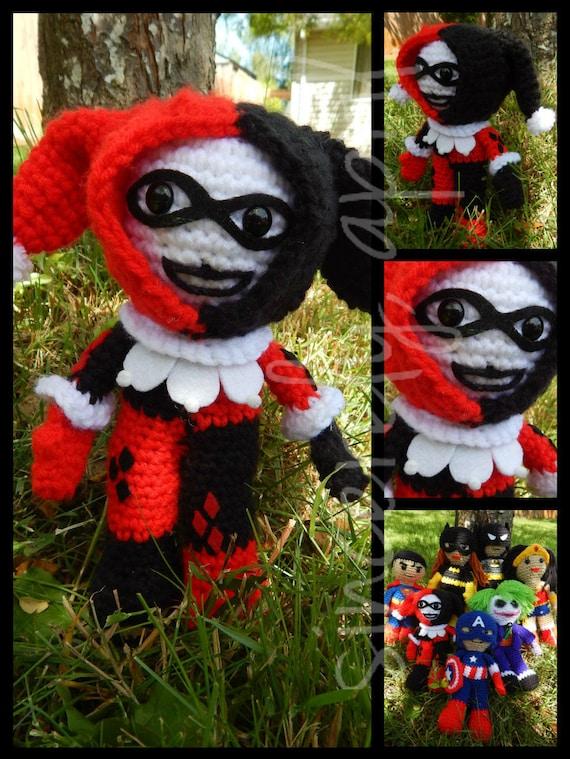 Amigurumi Harley Quinn : Items similar to Crochet Amigurumi Harley Quinn on Etsy