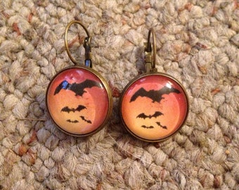Bats Bronze or Copper Earrings