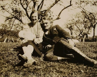 Vintage Photograph - In the Country with Baby
