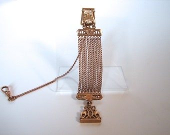Watch Fob with Wax Seal Bates and Bacon Victorian Watch Chain chatelaine - on sale