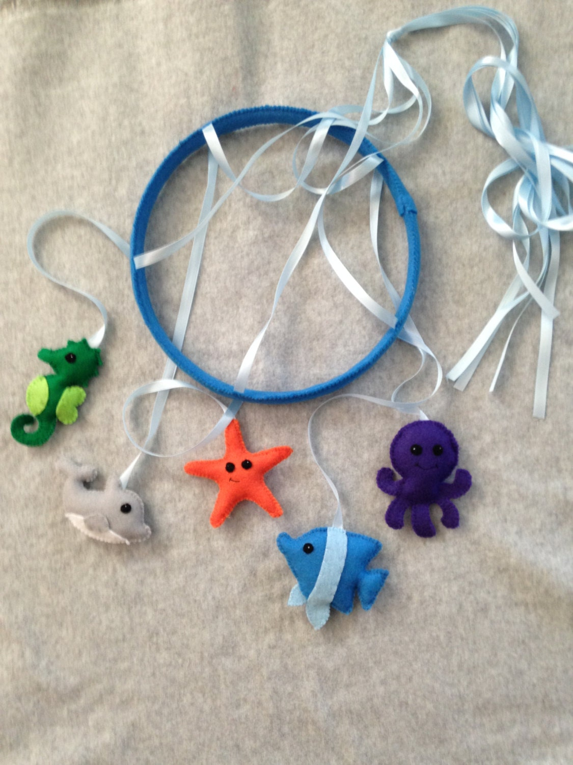 Ocean animals baby mobile for Sea animal baby mobile