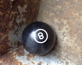 Bulls-eye Eight Ball /  Art Deco Billiard Ball /  Pool Ball