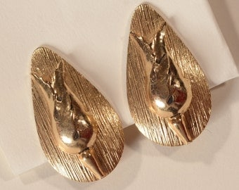 Vintage Whiting and Davis Earrings - Gold Toned - Mod Fashions