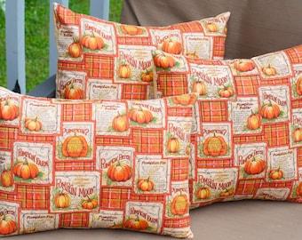 Decorative Fall Pumpkin Halloween Pillow, Toss Pillow, Accent Pillow, Throw Pillow, Pillowcase, Pillow cover - Fits 16x16 inch form