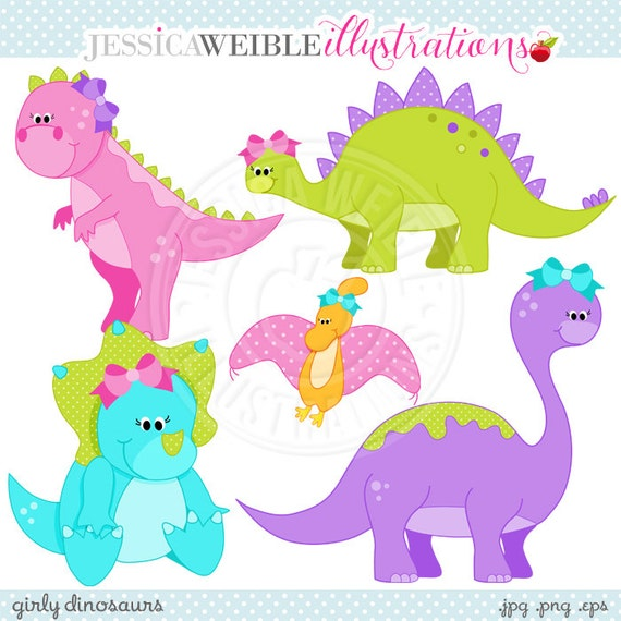 free girl dinosaur clipart - photo #47