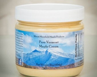 Pure Vermont Maple Cream- 1 Pound Jar