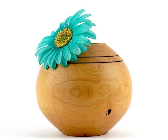 Wooden Elm Vase/ Round Bowl