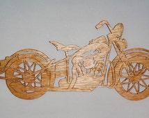 Handmade Custom Scroll Saw Fret Wooden 1936 Knucklehead