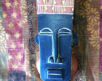 Carved Wood African Mask