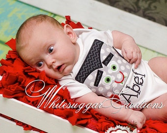 Newborn Halloween Outfit - Happy Dracula Personalized Shirt - Baby Boy Halloween Shirt - Baby Vampire Shirt - Toddler Boy Holiday Outfit