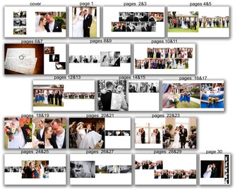INSTANT DOWNLOAD - 12x12 Wedding Album template - Simple - 0372 FA