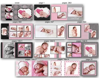 INSTANT DOWNLOAD - 10x10 Baby Album template - Ashley - 0338 FA