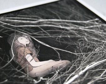 Innocence of the Apocalypse - Collaborative Giclee print 18 x 16cm