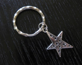 Silver Star Key Ring