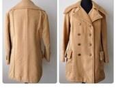 SALE Vintage 70s Corduroy Double Breasted Women's Coat Jacket sz. M/L