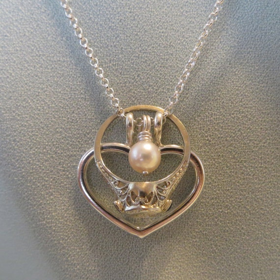Ring Holder Necklace Heart Charm Pendant Fine By