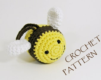 Crochet pattern amigurumi bee soft toy pdf tutorial in US English