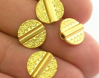 10 Gold Beads Gold Plated Metal Beads (10 mm) G2764