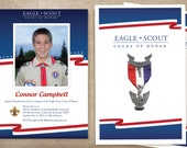 Eagle Scout Invitations and Program / Red White and Blue