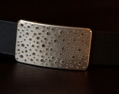 Silver Rain Stainless Steel Belt Buckle Bubbles Unisex Hypoallergenic Accessories Hand Forged Suit Buckle fits 1-1/4 Belt Artist Signed