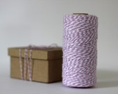 Pale Lavender Purple & White Bakers Twine - 10 metres - Perfect for Gift Wrapping or Crafts