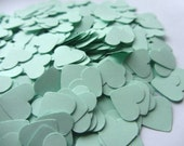 Mint Green Paper Heart Confetti, Wedding Confetti Mint shower confetti Party Events Mint table Decorations