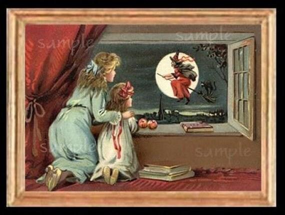 Halloween Joy  Miniature Dollhouse Art Picture 1593