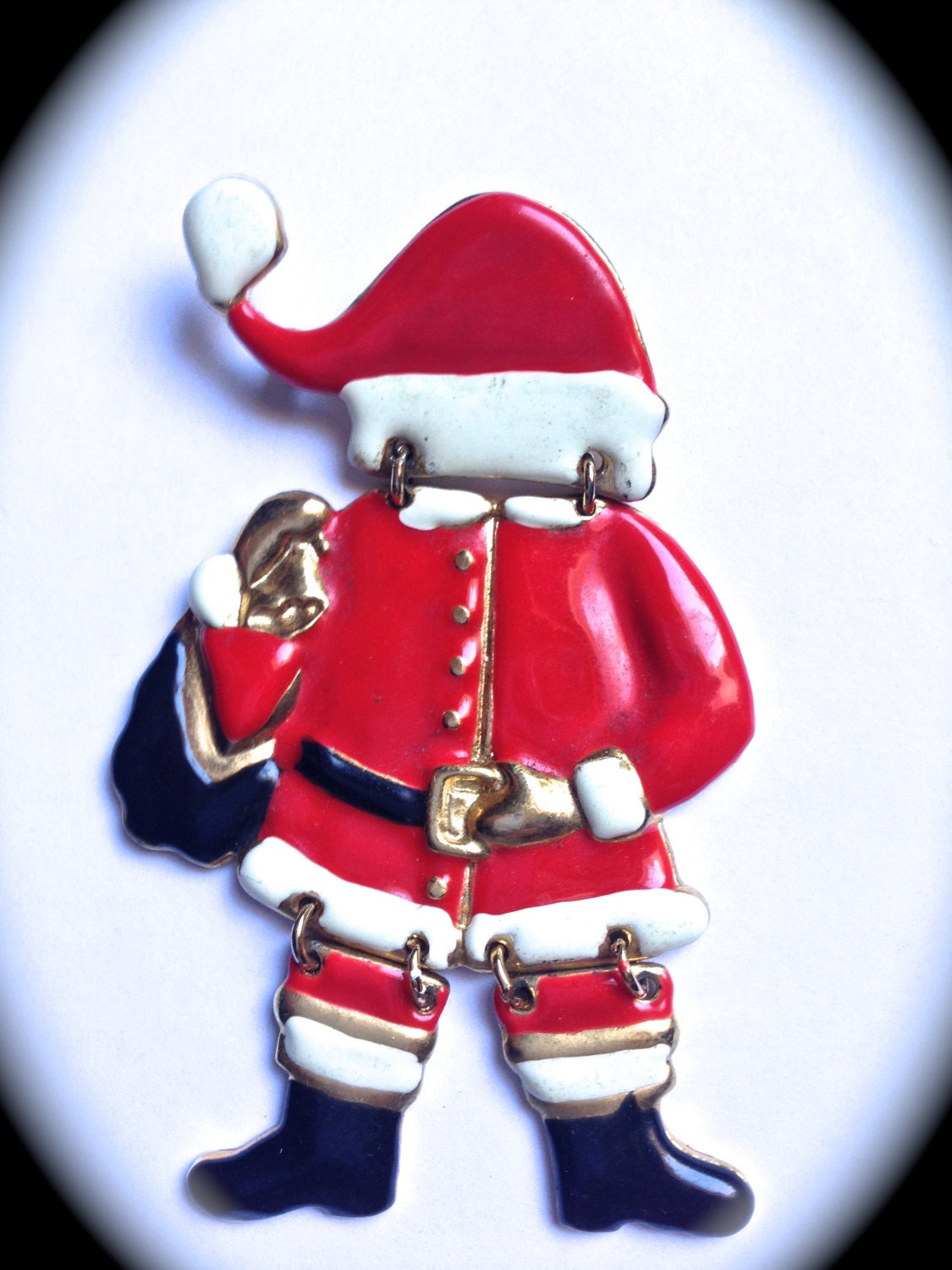 Santa claus vintage brooch christmas holiday jewelry