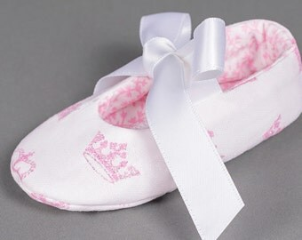 Princess shoes princess baby shoes girls baptism toddler girl shoes pink crowns baby girl shoes girls white shoes - Regal Baby Girl