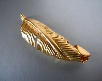 24k Gold Vermeil Leaf Charm Bali Sterling Silver Leaves  45mm