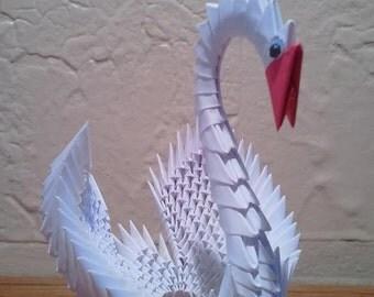 3D origami swan (medium)