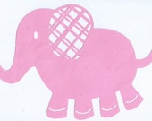 Adorable elephant silhouette