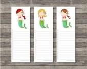 Mermaid Bookmark Notes . Digital Collection . Mayi Carles