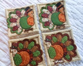 Turkey Quilted Coasters (Set of 4)