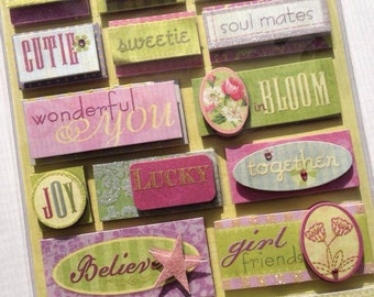 CIJ SALE Daydreams Word and Phrases Grand Adhesion Stickers from K&Company