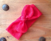 Rusty red top knot head wrap