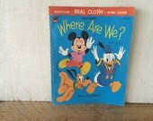"Vintage 1970 Cloth Baby Book, Mickey Mouse, ""Where Are We?"""