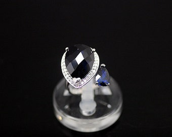 1pcs(jr-0002o) - sterling silver with cz