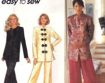 Vintage Simplicity 8736 Mandarin Jacket and Pants Size 12-16