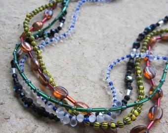 rainbow multi strand - the lena necklace