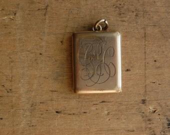 RESERVED // Edwardian engraved book locket / GCH