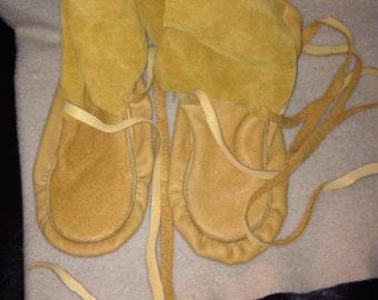 men's moose hide wrap around ankle wrap moccasins (wraps)