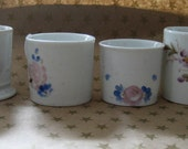 instant collection of four antique hand painted white porcelain baby sized cups
