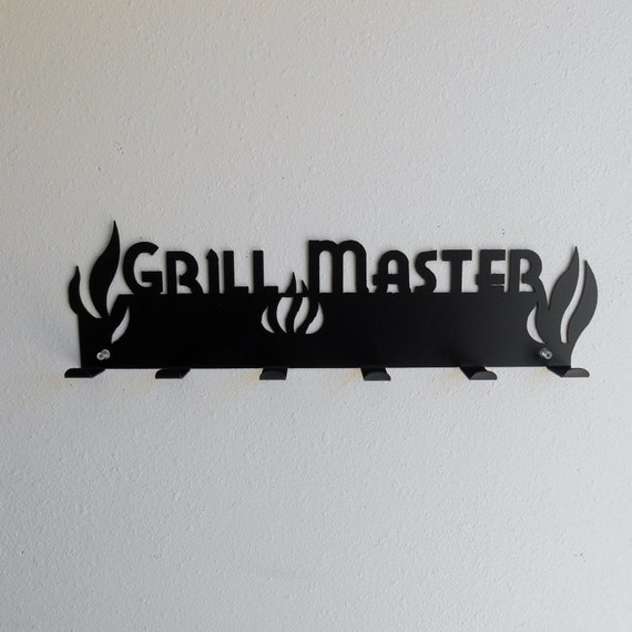 Grill Master Metal Tool Rack Barbeque Patio BBQ