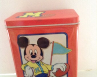 Mickey Mouse Football Tin